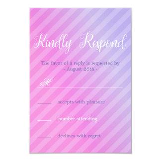 Elegant Pastel Pink Lilac RSVP Card