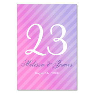 Elegant Pastel Pink Lilac Table Number