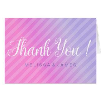 Elegant Pastel Pink Lilac Thank You Card