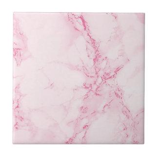 Elegant pastel pink marble ceramic tile