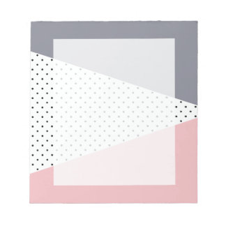 Elegant pastel pink purple geometric polka dots notepad