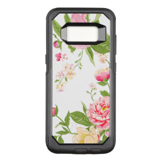Elegant Pastel Pink Roses Modern Illustration OtterBox Commuter Samsung Galaxy S8 Case