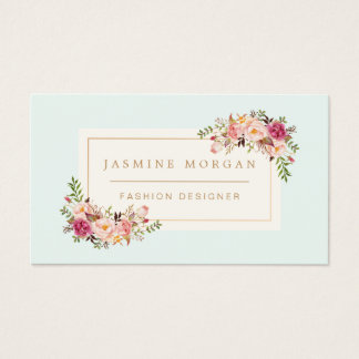 Elegant Pastel Watercolor Floral Boutique Decor