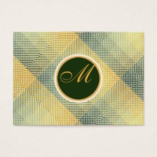 Elegant Pattern Green Business Card