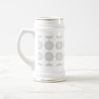 Elegant pattern, light gray and white. beer steins