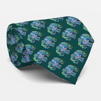 Elegant pattern of ornamental elephants tie
