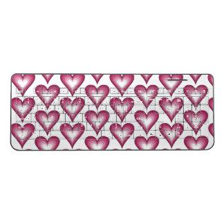 Elegant pattern pink hearts Keyboard