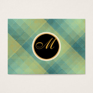 Elegant Pattern Turquoise Business Card
