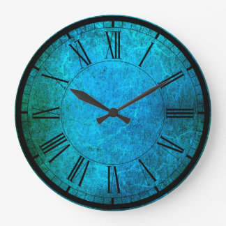 Elegant peacock colors wall clock