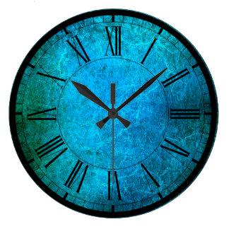 Elegant peacock colours wall clock