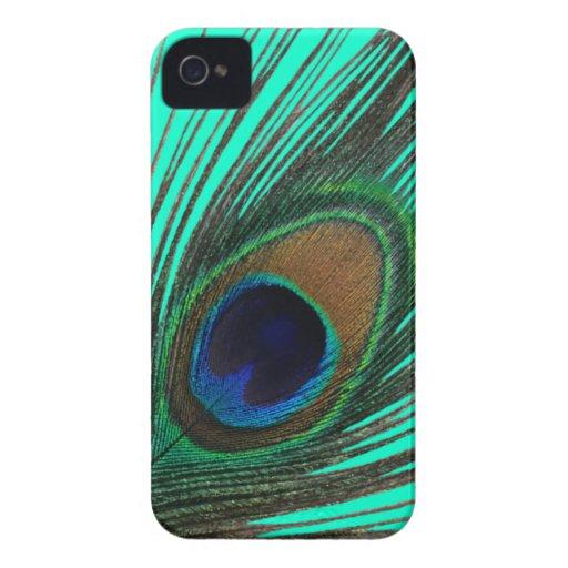 Elegant Peacock Feather BlackBerry Bold Case