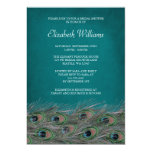 Elegant Peacock Feathers Bridal Shower Invitation