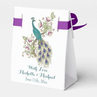 Elegant Peacock WEDDING FAVOR BOXES Favour Boxes