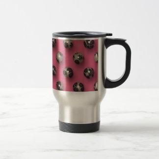 Elegant Pearls Pink Background Coffee Mugs
