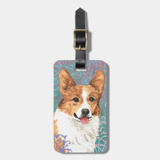 Elegant Pembroke Welsh Corgi Luggage Tag