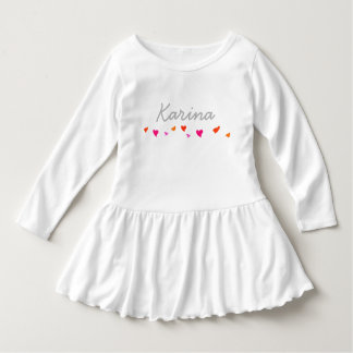 ELEGANT PERSONAL CUTOM INFANT HEARTS RAFFLED DRESS