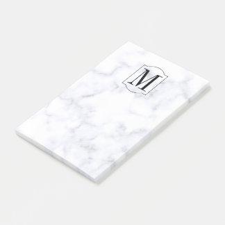 Elegant Personalised Monogram Marble Post-it Notes
