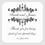 Elegant Personalised Thank You Wedding Stickers