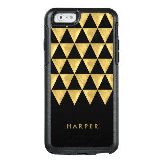 Elegant Personalize Name Black Triangle Geometric OtterBox iPhone 6/6s Case