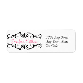 Elegant Personalized Address Labels Swirls