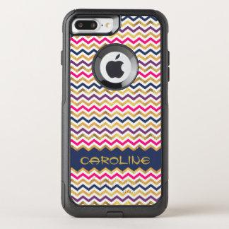 Elegant Personalized Chevron OtterBox Commuter iPhone 8 Plus/7 Plus Case