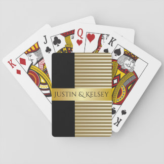 Elegant Personalized Couples Names Playing Cards