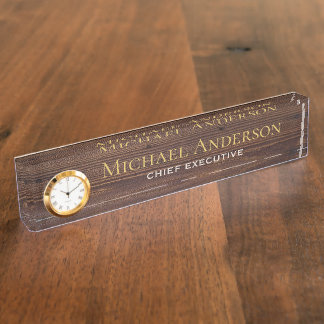 Elegant Personalized Desk NAME Plate Executive