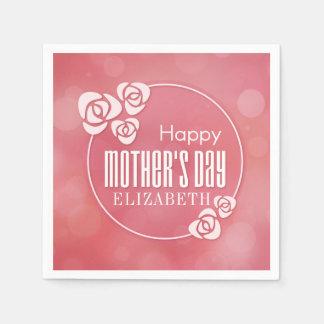 Elegant Personalized Happy Mother's Day | Napkin Paper Napkin