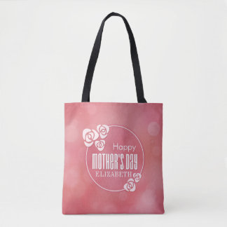 Elegant Personalized Happy Mother's Day Tote Bag