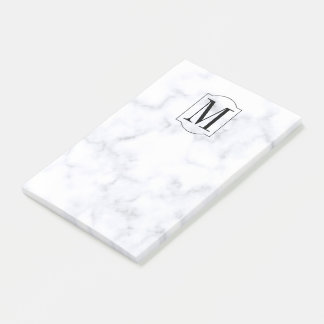 Elegant Personalized Monogram Marble Post-it® Notes