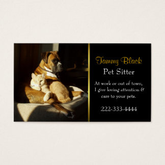 Elegant Pet Care Business Card