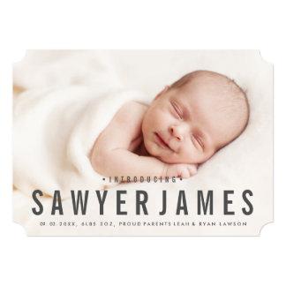 Elegant photo birth announcement
