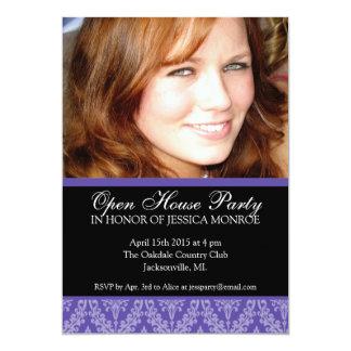 "Elegant Photo Open House Graduation Invitation 5"" X 7"" Invitation Card"