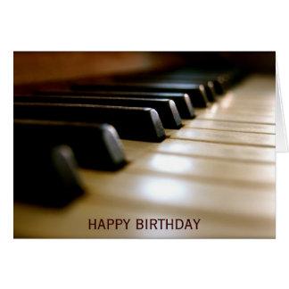 Elegant piano keyboard music birthday card