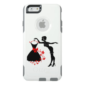 Elegant pin up stylish woman silhouette with dress OtterBox iPhone 6/6s case