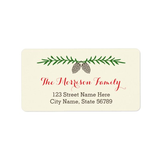 Elegant Pine Holiday Address Labels