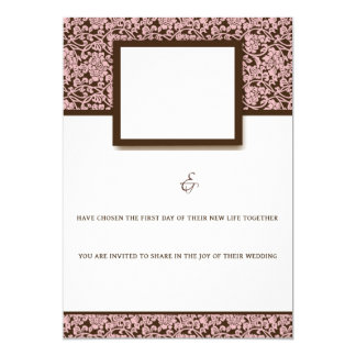 Elegant Pink And Brown Card