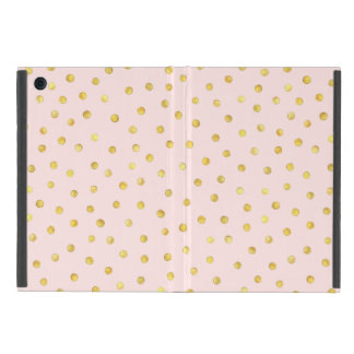 Elegant Pink And Gold Foil Confetti Dots Pattern Cover For iPad Mini