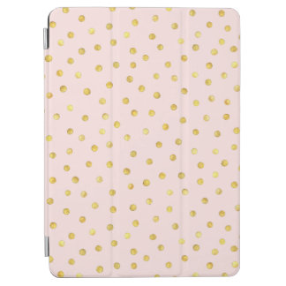 Elegant Pink And Gold Foil Confetti Dots Pattern iPad Air Cover