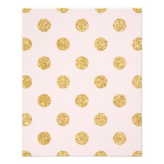 Elegant Pink And Gold Glitter Polka Dots Pattern 11.5 Cm X 14 Cm Flyer