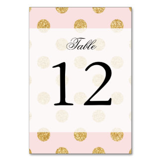 Elegant Pink And Gold Glitter Polka Dots Pattern Card