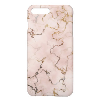 Elegant pink and gold marble case