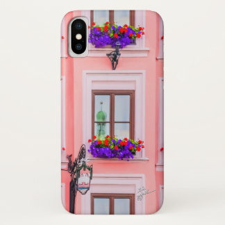 Elegant Pink Austrian Windows Floral Photography iPhone X Case