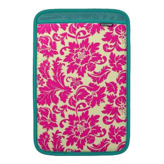 Elegant Pink & Beige Vintage Floral Damasks Sleeve For MacBook Air