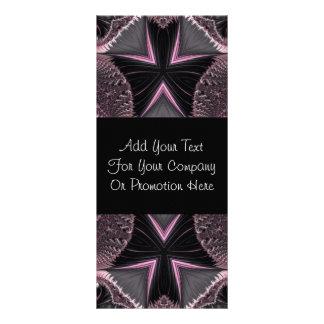 Elegant Pink Black Fractal Butterfly Rack Cards