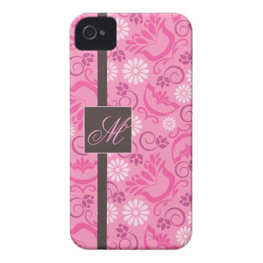 Elegant Pink BlackBerry Bold Case with Monogram