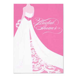 Elegant Pink Bridal Shower Invitation