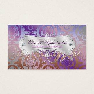 Elegant Pink Brown Purple Damask Swirl