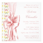 Elegant Pink Butterfly Baby Girl Shower Personalized Invitation