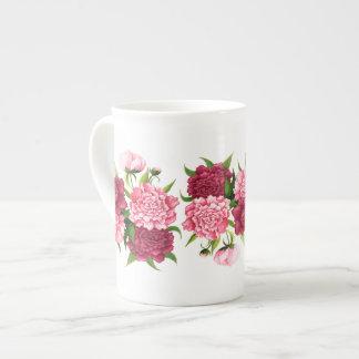 Elegant Pink Camellias Bone China Mug